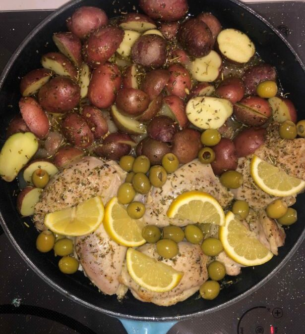 One-pot Olive Chicken $ Potatoes
